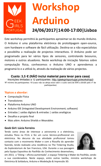 Workshop Arduino @ Lisboa
