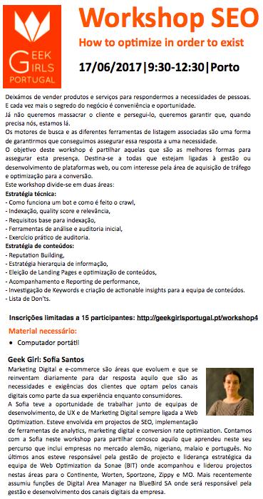 Workshop SEO @ Porto
