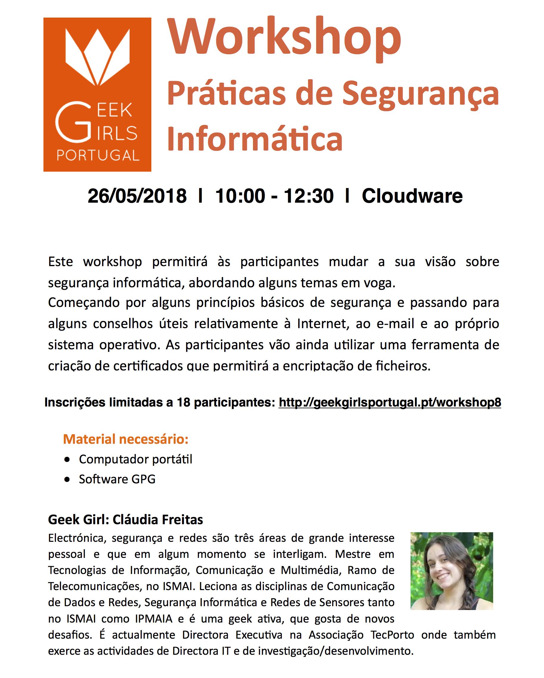 Workshop Práticas Segurança Informática @ Porto